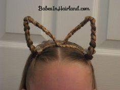 little girls, cat, ear, halloween hair, costume ideas