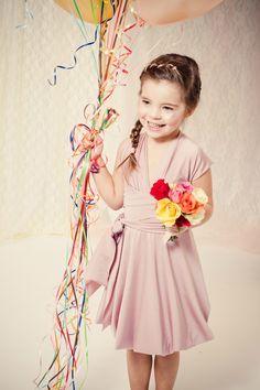 Sylvie- Convertible Flower Girl Dress with Bubble Hem- sizes 8-14. $130.00, via Etsy.