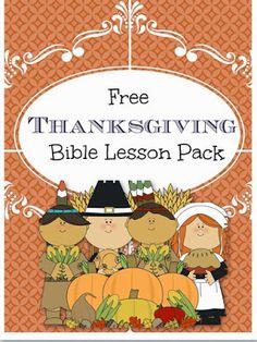 Free Thanksgiving Bible Lesson Pack-pre-k-3rd #thanksgivinghomeschool