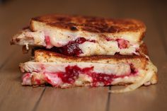 Turkey and cranberry grilled cheese!