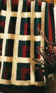 Log Cabin Afghan - free crochet pattern