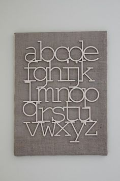 cute alphabet wall hanging