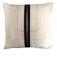 The Modern Flap Pillow / Stone Textile