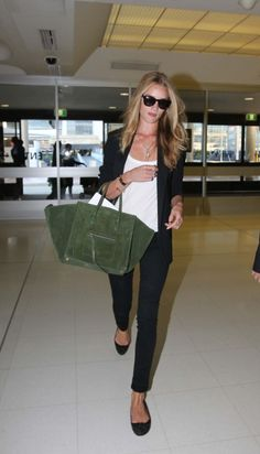 Rosie Huntington Whiteley #airport #celebrity #style #fashion #actress #travel #model #looks