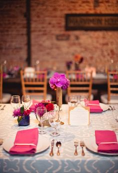 Mix & Match vases and flowers for table decor rather than one large centerpiece