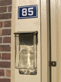 vintage glass mailbox