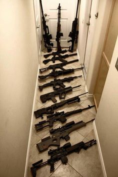 wow - there has to be $30,000 in rifles sitting right there...