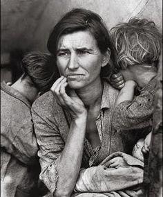 Dorothea Lange's famous depression era Migrant Mother