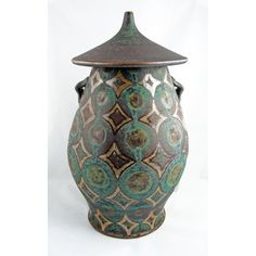 Ceramic Pagoda Canister/Jar Large by PeterKarner on Etsy, $200.00