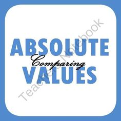 Comparing Absolute Values - Practice or Homework from Mathematic Fanatic on TeachersNotebook.com -  (4 pages)  - Comparing Absolute Values - Practice or Homework