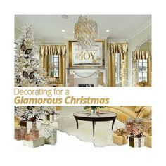 Giving your space a 'glam' #homedecor theme can help give your #home a #holiday vibe and yet still work for New Years Eve as well!