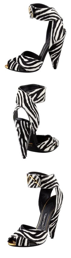 Tom Ford ~ zebra print sandals.