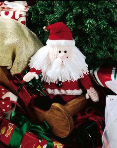 Crochet Beanbag Santa