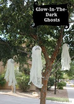 Glow-In-The-Dark Hanging Ghosts