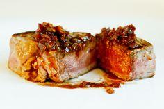 pan-seared steak with red wine pan sauce