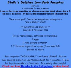 Sugar-free Sheila's low-carb recipes