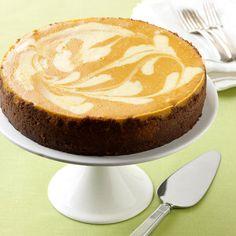 Pumpkin-Ginger Cheesecake #recipe #cheesecake