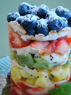 Fruit with Swedish Pancake