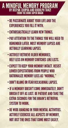 Deepak Chopra - A Mindful Memory Program
