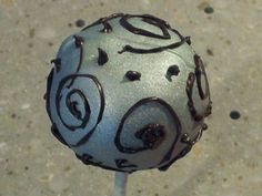 Whimsy silver cake pop!