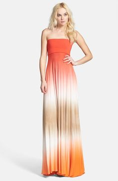 Young, Fabulous  Broke 'Bangal' Convertible Maxi Dress available at #Nordstrom With a tan sweater.