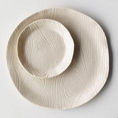 Porcelain Wood Grain Plate   Marcie McGoldrick