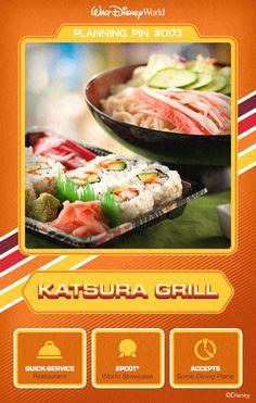Walt Disney World Planning Pins: Katsura Grill
