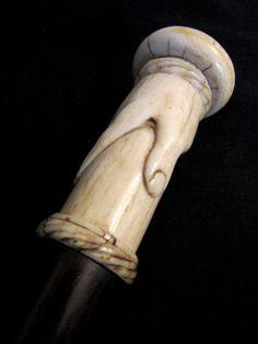 Ivory Hand Walking Stick