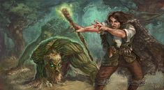 Druid with Plant Minions by ~thegryph on deviantART