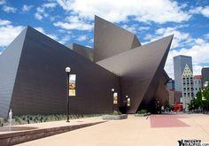 uniqu architectur, window, museums, museum denver, denver art museum, usa, blue bear, intrigu architectur, cooki architectur