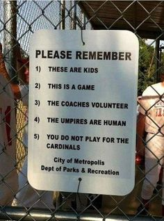 Great sign for little league.