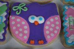 owl cookies, tulip cutter, 1st birthday, cooki repin, tulips