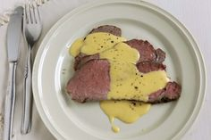 Roast beef with absinthe Hollandaise
