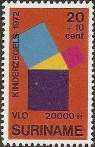 Pythagorean theorem - stamp
