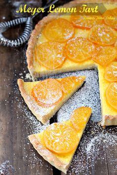 Meyer Lemon Tart from Roxanashomebaking.com Sweet and floral, this custard like tart will leave everyone wanting more.