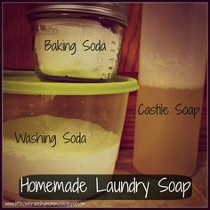 Easy Homemade Laundry Detergent ** via LittleOwlCrunchyMomma