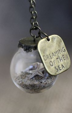 Miniature Beach necklace. Dreaming of the Sea. by KitschyKooDesign