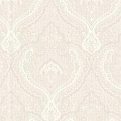 522-30309 Beige Damask - Fairwinds Studio Wallpaper