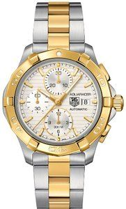 Tag Heuer Aquaracer Chronograph Automatic Stainless Steel 18kt Gold Mens Watch CAP2120BB0834 for only $2,592.75 You save: $1,107.25 (30%)