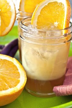 orange bourbon ginger tea