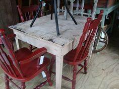 antique primitive table