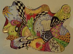 zentangle with a theme!! Love it, good idea for hs art