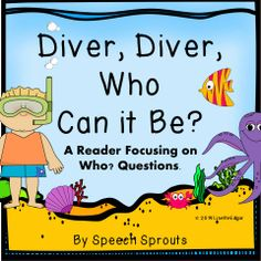 Not Your Ordinary Reader! Ocean themed interactive reader focusing on answering Who? questions and naming to a description! Color, BW, and shared reading PowerPoint included. Summer fun for literature circles, speech therapy, ESL and Rti. Repinned by SOS Inc. Resources pinterest.com/sostherapy/.