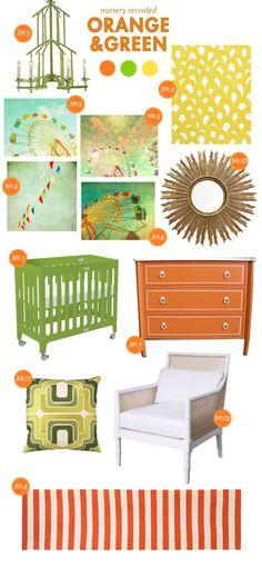 orange and green nursery