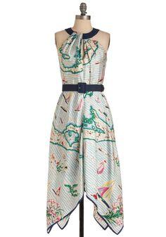 A La Cartography Dress, #ModCloth