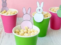 snack for Easter with FREE bunny printable.
