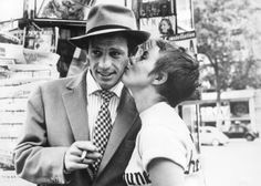 Still of Jean-Paul Belmondo and Jean Seberg in Breathless