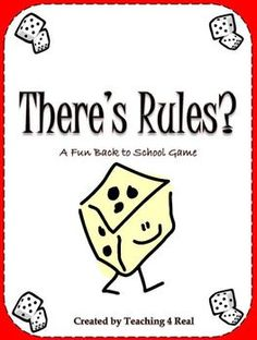 FREEBIE....Back To School Rules Game:      Establishing rules is the single most important thing you do at the beginning of t...