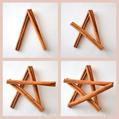 Cinnamon-stick star ornament