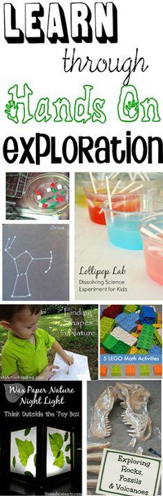 Learn through Hands on Exploration via 123 Homeschool 4 Me